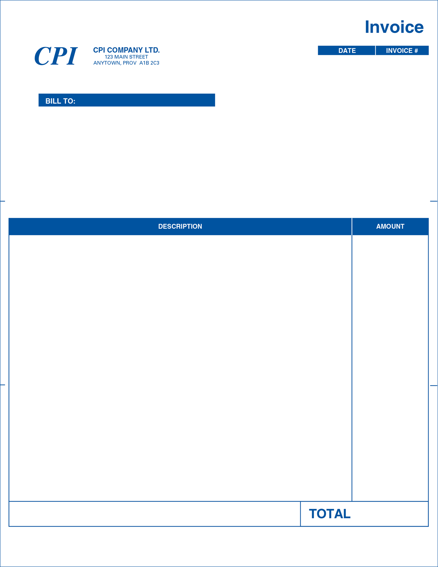 Computer Forms: Professional Invoice